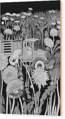 Wood Print featuring the drawing Forgotten by Carol Jacobs