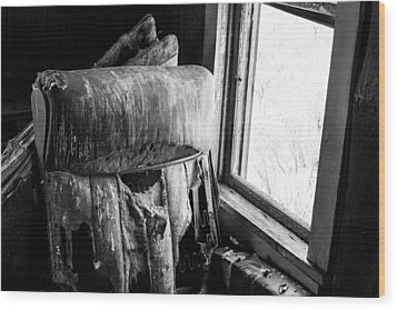 Forgotten Chair By The Window Wood Print by Nathan Hillis