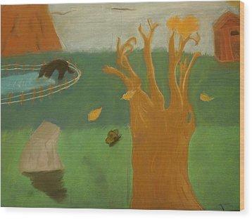 Forgotten Child Hood Wood Print by Joshua Massenburg