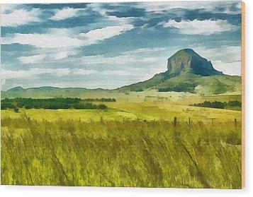Forgotten Fields Wood Print by Ayse and Deniz