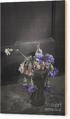 Forgotten Flowers Wood Print by Svetlana Sewell