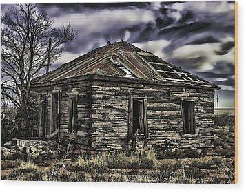 Wood Print featuring the painting Forgotten by Muhie Kanawati