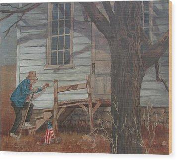 Wood Print featuring the painting Forgotten by Tony Caviston