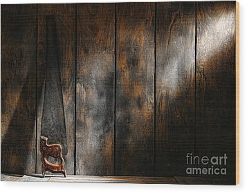 Forgotten Tool Wood Print by Olivier Le Queinec