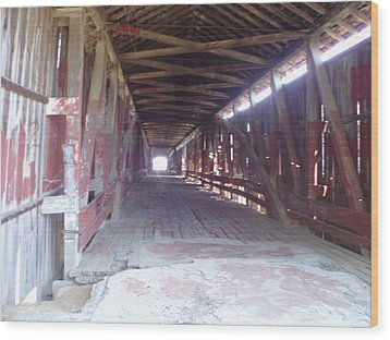 Wood Print featuring the photograph Forgotten Tunnel by Fortunate Findings Shirley Dickerson