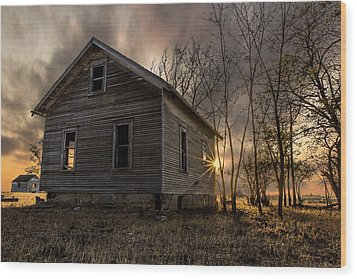 Forgotten V Wood Print by Aaron J Groen