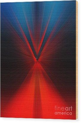 Wood Print featuring the digital art Fork by Trena Mara