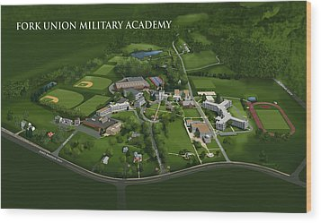 Fork Union Military Academy Wood Print by Rhett and Sherry  Erb