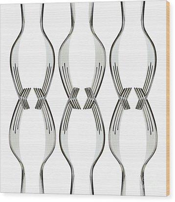 Forks Wood Print by Blink Images