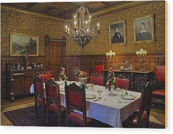 Formal Dining Room Wood Print by Susan Candelario