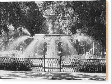 Forsyth Park Fountain Wood Print by John Rizzuto