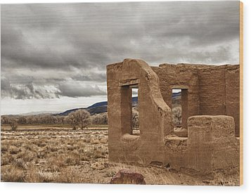 Wood Print featuring the photograph Fort Churchill Nevada by Janis Knight