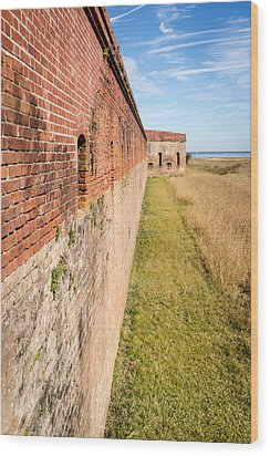 Fort Clinch Wood Print by Wade Brooks