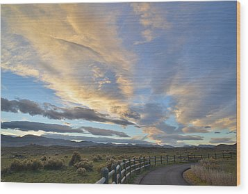 Fort Collins Sunset Wood Print by Ray Mathis