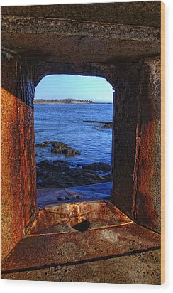 Fort Constitution Wood Print by Joann Vitali
