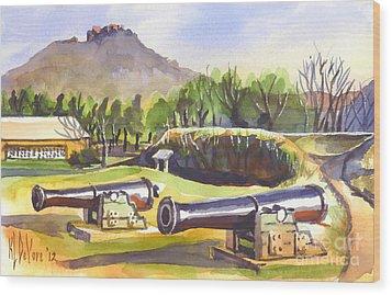 Fort Davidson Cannon II Wood Print by Kip DeVore