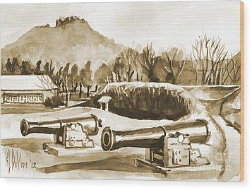 Fort Davidson Cannon Iv Wood Print by Kip DeVore