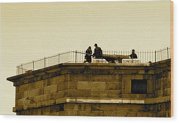Fort Delaware Cleaning Crew Wood Print by Amazing Photographs AKA Christian Wilson