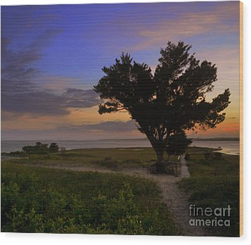 Fort Fisher Sunset  Wood Print