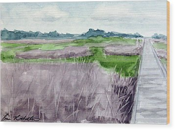 Fort Fisher's Path Wood Print
