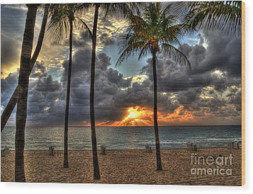Fort Lauderdale Beach Florida - Sunrise Wood Print