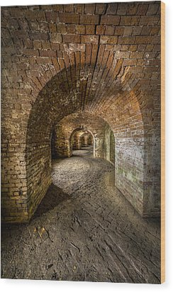 Fort Macomb Arches Vertical Wood Print by David Morefield