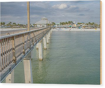 Fort Myers Beach Wood Print by Kim Hojnacki