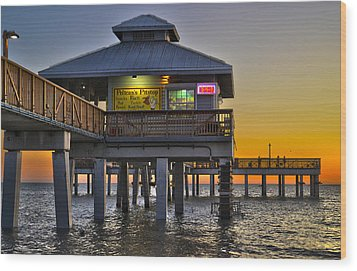 Fort Myers Beach Pier 4 Wood Print
