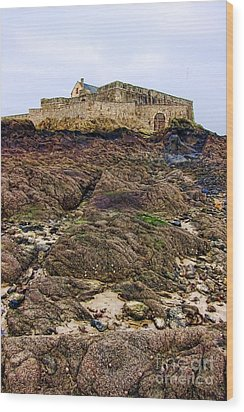 Fort National In Saint Malo Brittany Wood Print by Olivier Le Queinec