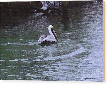 Wood Print featuring the photograph Fort Pierce Pelican by Megan Dirsa-DuBois