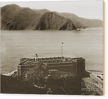 Fort Point And The Golden Gate San Francisco Circa 1890 Wood Print by California Views Mr Pat Hathaway Archives