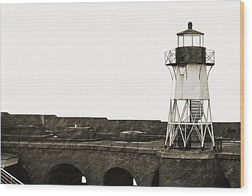 Fort Point Lighthouse Wood Print by Holly Blunkall