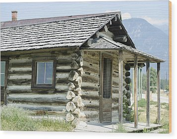 Wood Print featuring the photograph Fort Steele Cabin by Margaret Buchanan