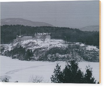 Fort Ticonderoga From Mount Independence Wood Print by David Fiske