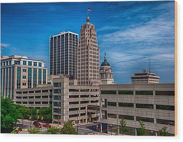 Fort Wayne Skyscrapers Wood Print