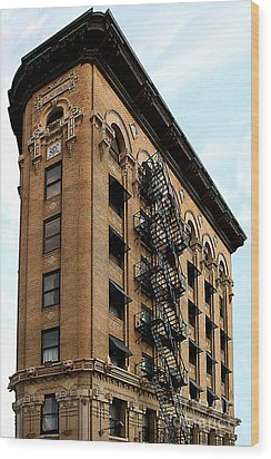 Fort Worth Flatiron Building Wood Print
