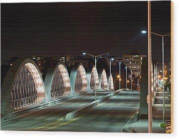 Fort Worth Seventh Street Bridge Oct 10 2014 Wood Print