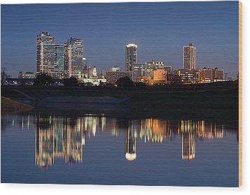 Fort Worth Skyline 020915 Wood Print