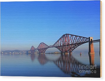 Forth Rail Bridge Wood Print