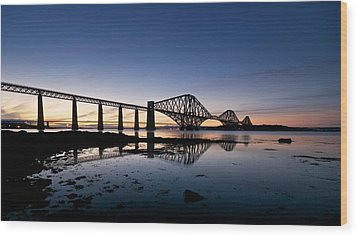 Wood Print featuring the photograph Forth Rail Bridge by Stephen Taylor