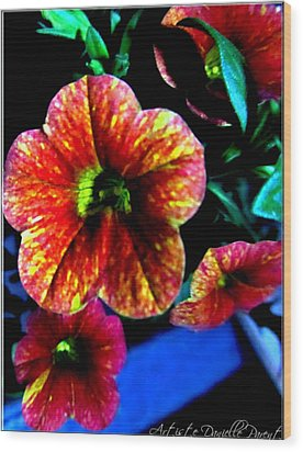 Fortinos Petunias Wood Print by Danielle  Parent