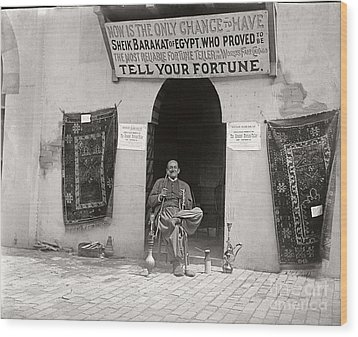 Wood Print featuring the photograph Fortune Teller San Francisco Exposition 1894 by Martin Konopacki Restoration