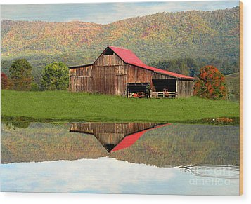 Fortunebarn Wood Print by Annlynn Ward