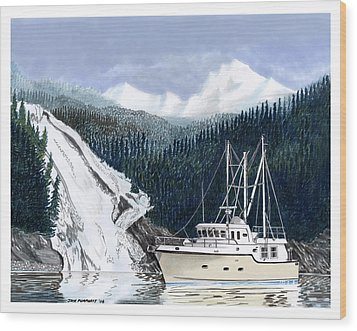 Forty Foot Nordhavn Northern Anchorage Wood Print by Jack Pumphrey