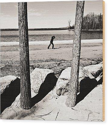 Forward Wood Print by Arkady Kunysz