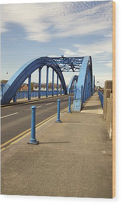 Foryd Bridge Wood Print by Christopher Rowlands