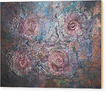 Fossils 1 Wood Print by Carol Rowland