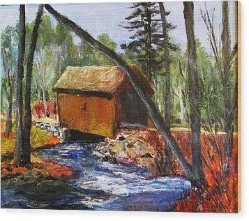 Foster Covered Bridge  Wood Print by Art  Stenberg