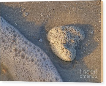 Wood Print featuring the photograph Found Heart by Peggy Hughes