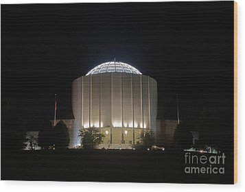 Founders Hall At Night Wood Print